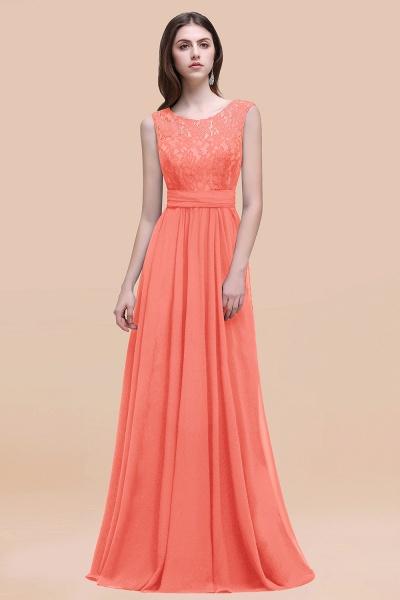 Elegant A-line Chiffon Lace Scoop Sleeveless Floor-Length Bridesmaid Dress_45
