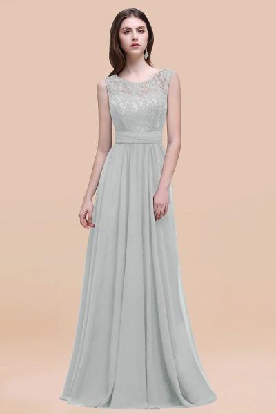 Elegant A-line Chiffon Lace Scoop Sleeveless Floor-Length Bridesmaid Dress_38