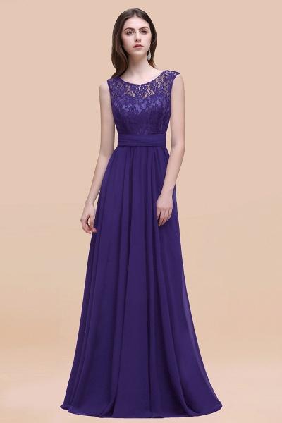 Elegant A-line Chiffon Lace Scoop Sleeveless Floor-Length Bridesmaid Dress_19