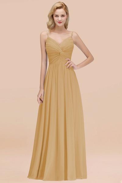 A-Line Chiffon V-Neck Spaghetti Straps Floor-Length Bridesmaid Dresses_13