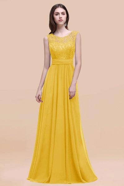 Elegant A-line Chiffon Lace Scoop Sleeveless Floor-Length Bridesmaid Dress_17