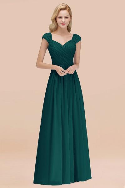 A-Line Chiffon Straps Sweetheart Sleeveless Floor-Length Bridesmaid Dress with Ruffles_33