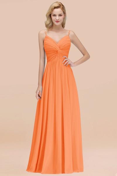 A-Line Chiffon V-Neck Spaghetti Straps Floor-Length Bridesmaid Dresses_15