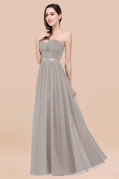 Elegant A-Line Chiffon Sweetheart Sleeveless Floor-Length Bridesmaid Dress with Ribbon_30