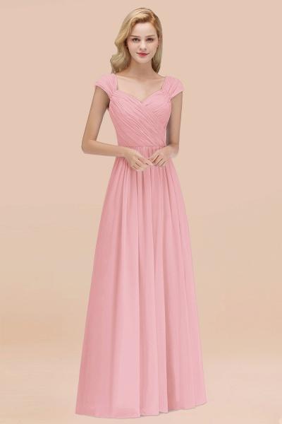 A-Line Chiffon Straps Sweetheart Sleeveless Floor-Length Bridesmaid Dress with Ruffles_4