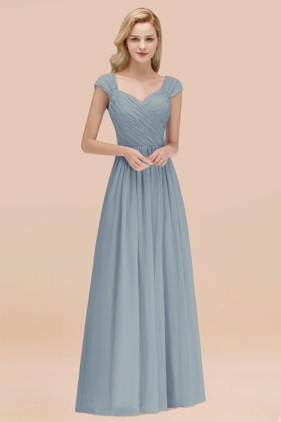 A-Line Chiffon Straps Sweetheart Sleeveless Floor-Length Bridesmaid Dress with Ruffles_40