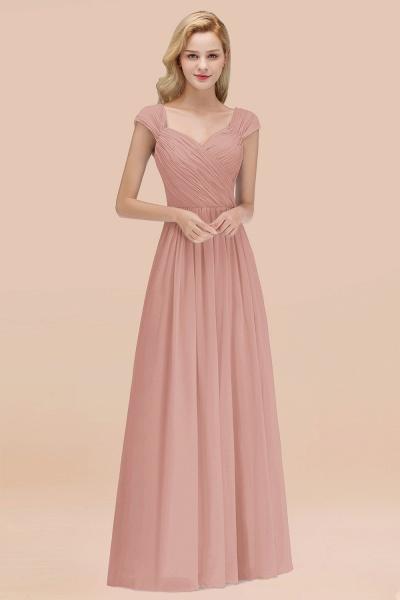 A-Line Chiffon Straps Sweetheart Sleeveless Floor-Length Bridesmaid Dress with Ruffles_6