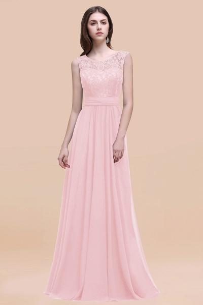 Elegant A-line Chiffon Lace Scoop Sleeveless Floor-Length Bridesmaid Dress_3