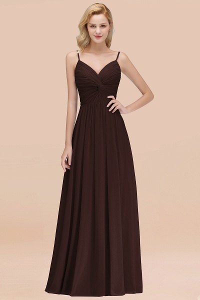 A-Line Chiffon V-Neck Spaghetti Straps Floor-Length Bridesmaid Dresses_11
