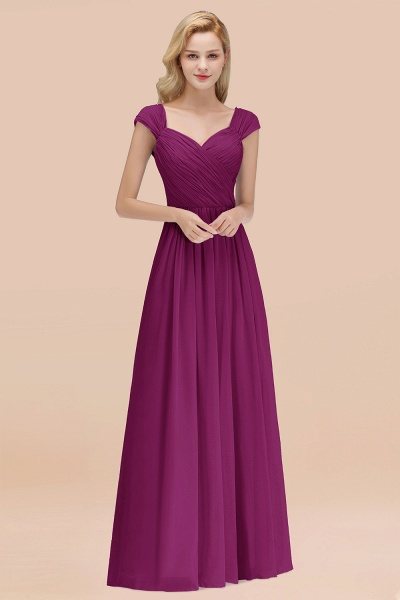 A-Line Chiffon Straps Sweetheart Sleeveless Floor-Length Bridesmaid Dress with Ruffles_42