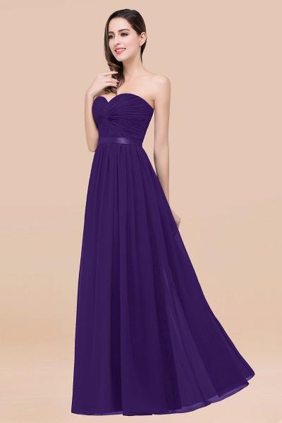 Elegant A-Line Chiffon Sweetheart Sleeveless Floor-Length Bridesmaid Dress with Ribbon_19