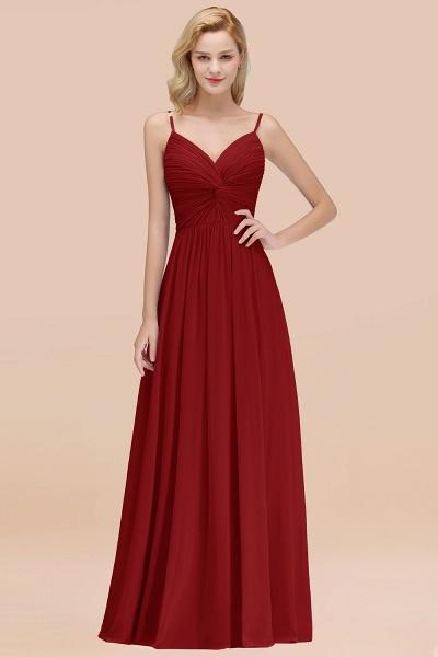 A-Line Chiffon V-Neck Spaghetti Straps Floor-Length Bridesmaid Dresses_48