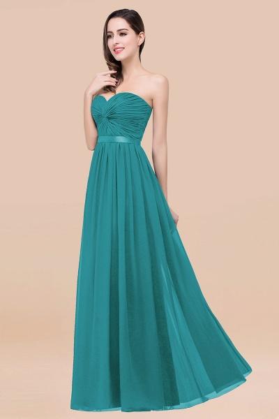Elegant A-Line Chiffon Sweetheart Sleeveless Floor-Length Bridesmaid Dress with Ribbon_32