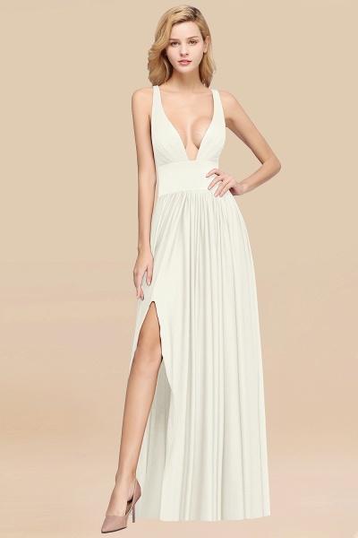 BM0141 A-Line V-Neck Sleeveless Long Ruffles Bridesmaid Dress_2
