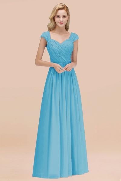 A-Line Chiffon Straps Sweetheart Sleeveless Floor-Length Bridesmaid Dress with Ruffles_24