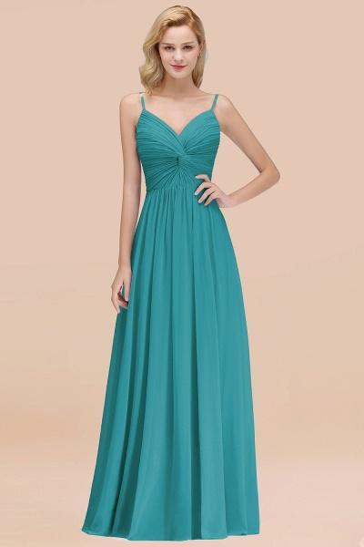 A-Line Chiffon V-Neck Spaghetti Straps Floor-Length Bridesmaid Dresses_32