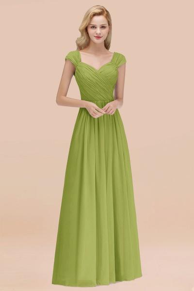 A-Line Chiffon Straps Sweetheart Sleeveless Floor-Length Bridesmaid Dress with Ruffles_34