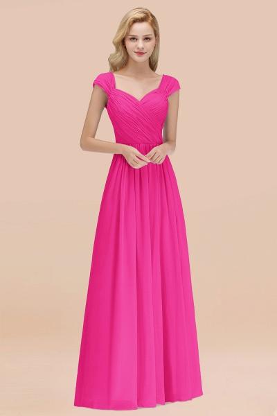 A-Line Chiffon Straps Sweetheart Sleeveless Floor-Length Bridesmaid Dress with Ruffles_9