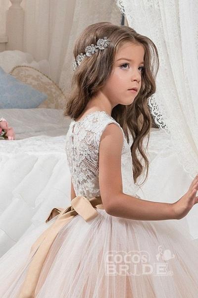 Scoop Neck Sleeveless Ball Gown Flower Girls Dress_3
