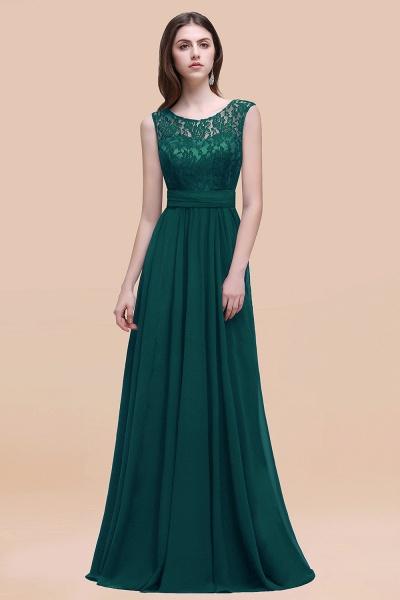 Elegant A-line Chiffon Lace Scoop Sleeveless Floor-Length Bridesmaid Dress_33