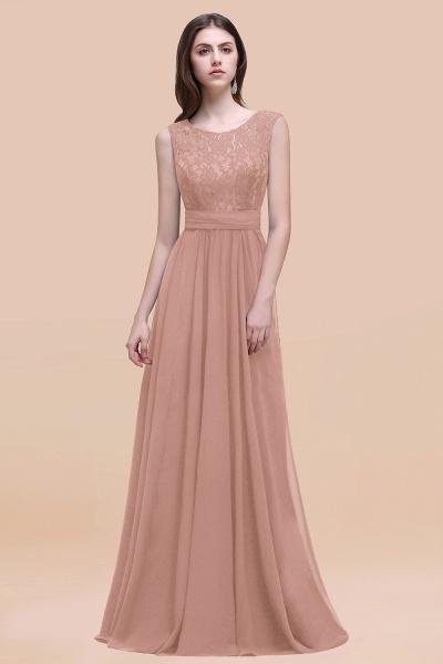 Elegant A-line Chiffon Lace Scoop Sleeveless Floor-Length Bridesmaid Dress_6