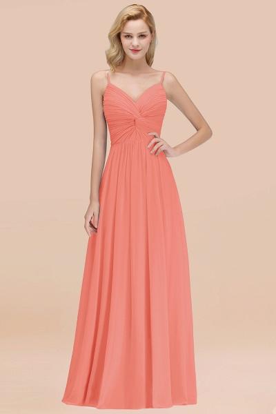 A-Line Chiffon V-Neck Spaghetti Straps Floor-Length Bridesmaid Dresses_45