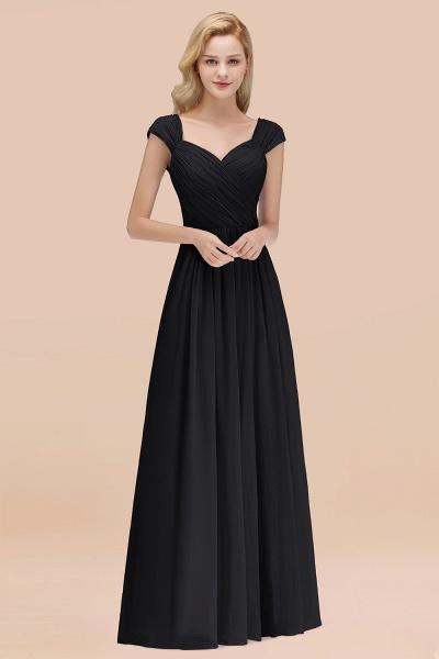 A-Line Chiffon Straps Sweetheart Sleeveless Floor-Length Bridesmaid Dress with Ruffles_29