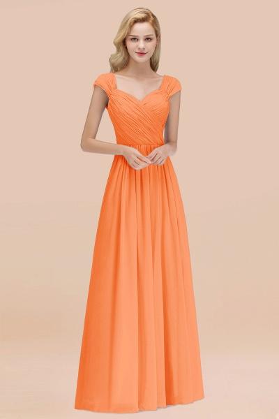 A-Line Chiffon Straps Sweetheart Sleeveless Floor-Length Bridesmaid Dress with Ruffles_15