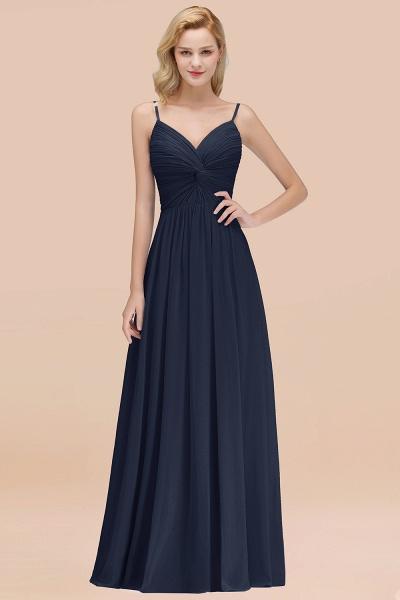 A-Line Chiffon V-Neck Spaghetti Straps Floor-Length Bridesmaid Dresses_28