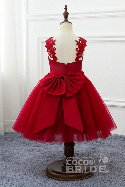 Red V-Neck Sleeveless Ball Gown Short Dress_2