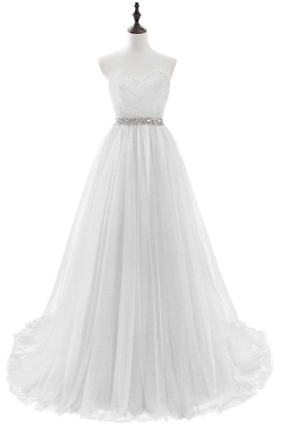 Glorious Strapless Organza A-line Evening Dress_1