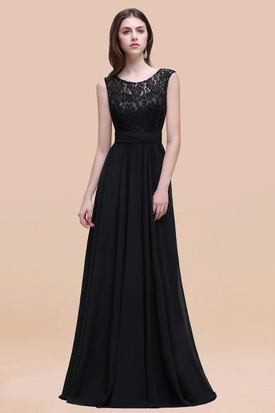 Elegant A-line Chiffon Lace Scoop Sleeveless Floor-Length Bridesmaid Dress_29