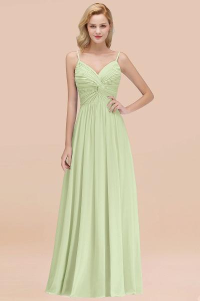 A-Line Chiffon V-Neck Spaghetti Straps Floor-Length Bridesmaid Dresses_35