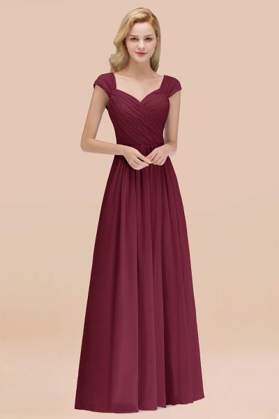 A-Line Chiffon Straps Sweetheart Sleeveless Floor-Length Bridesmaid Dress with Ruffles_10