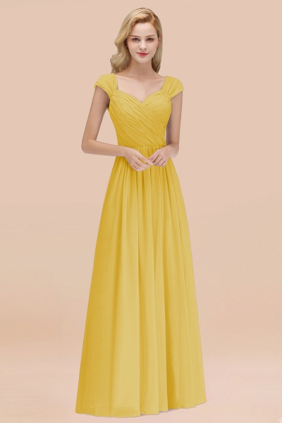 A-Line Chiffon Straps Sweetheart Sleeveless Floor-Length Bridesmaid Dress with Ruffles_17