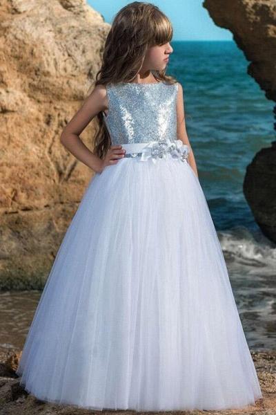Scoop Neck Sleeveless Ball Gown Flower Girls Dress_1