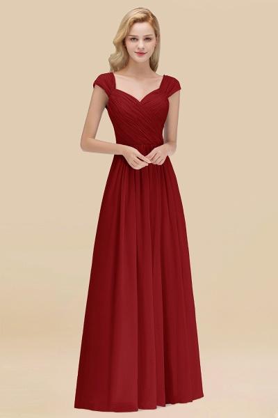 A-Line Chiffon Straps Sweetheart Sleeveless Floor-Length Bridesmaid Dress with Ruffles_48