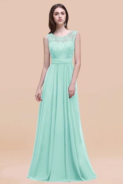 Elegant A-line Chiffon Lace Scoop Sleeveless Floor-Length Bridesmaid Dress_36