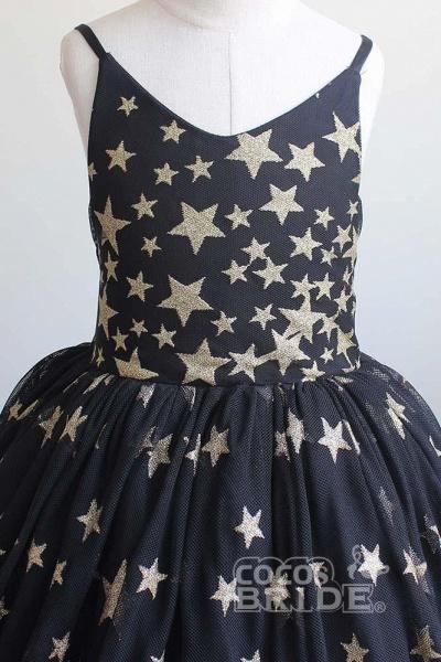 Navy Blue V-Neck Sleeveless Ball Gown Dress_2