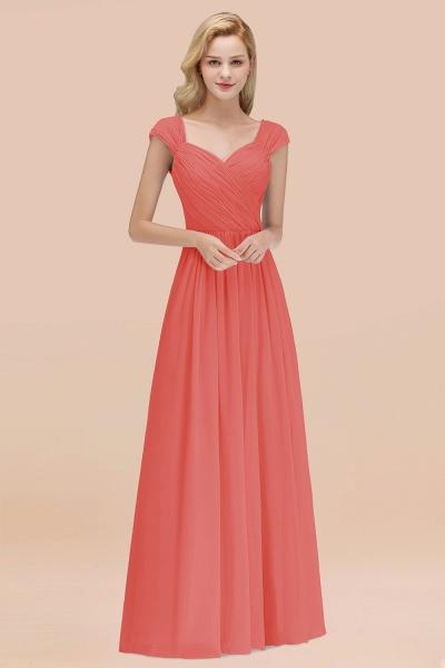 A-Line Chiffon Straps Sweetheart Sleeveless Floor-Length Bridesmaid Dress with Ruffles_7