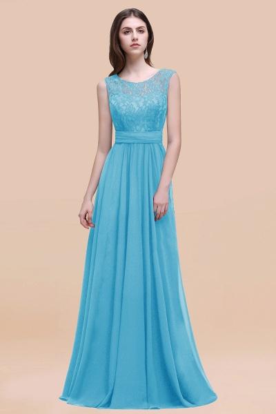 Elegant A-line Chiffon Lace Scoop Sleeveless Floor-Length Bridesmaid Dress_24