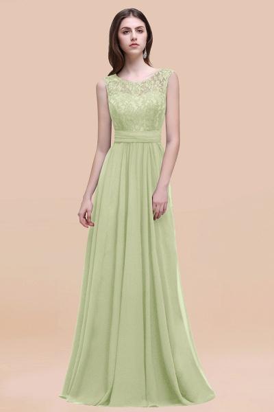 Elegant A-line Chiffon Lace Scoop Sleeveless Floor-Length Bridesmaid Dress_35