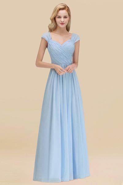 A-Line Chiffon Straps Sweetheart Sleeveless Floor-Length Bridesmaid Dress with Ruffles_23