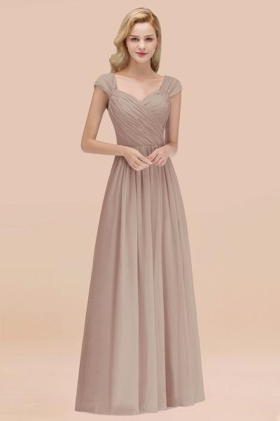 A-Line Chiffon Straps Sweetheart Sleeveless Floor-Length Bridesmaid Dress with Ruffles_16
