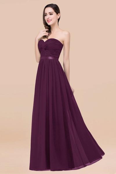 Elegant A-Line Chiffon Sweetheart Sleeveless Floor-Length Bridesmaid Dress with Ribbon_20