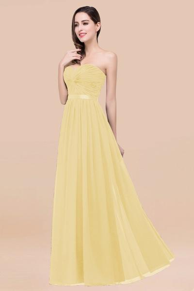 Elegant A-Line Chiffon Sweetheart Sleeveless Floor-Length Bridesmaid Dress with Ribbon_18