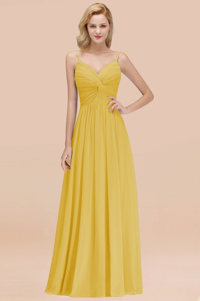 A-Line Chiffon V-Neck Spaghetti Straps Floor-Length Bridesmaid Dresses_17