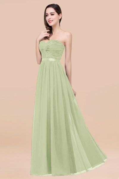 Elegant A-Line Chiffon Sweetheart Sleeveless Floor-Length Bridesmaid Dress with Ribbon_35