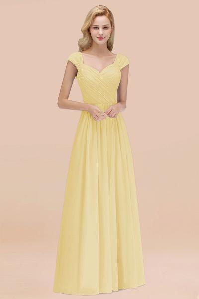 A-Line Chiffon Straps Sweetheart Sleeveless Floor-Length Bridesmaid Dress with Ruffles_18