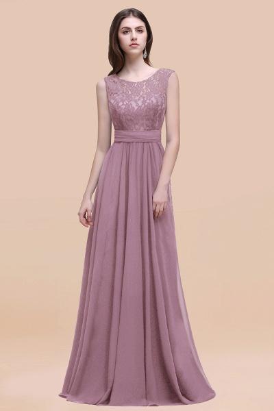 Elegant A-line Chiffon Lace Scoop Sleeveless Floor-Length Bridesmaid Dress_43